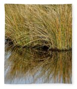 Reflecting Reeds Fleece Blanket