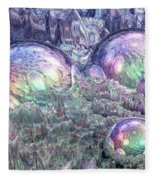 Reflecting Spheres In Space Fleece Blanket