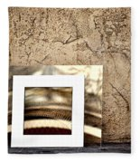 Reflection Against The Wall Fleece Blanket