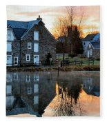 Reflection At Wagner Mill Fleece Blanket