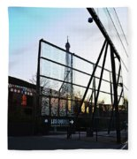 Reflection Eiffel Paris Fleece Blanket