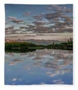 Reflection In A Mountain Pond Fleece Blanket