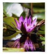 Reflection In Fuchsia Fleece Blanket