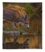 Reflection In The Stream Fleece Blanket