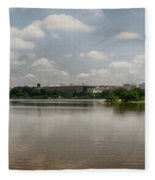 Reflection In Washington Fleece Blanket