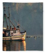 Reflections Of A Nautical Timepiece Fleece Blanket
