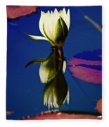 Reflection Of A Water Lily Fleece Blanket