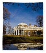 Reflection Of Monticello Fleece Blanket