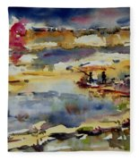 Reflection Of Sunset Glow Fleece Blanket