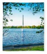 Reflection Of Washington Fleece Blanket