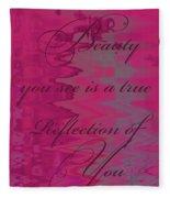 Reflection Of You Fleece Blanket