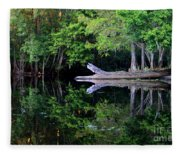 Reflection Off The Withlacoochee River Fleece Blanket