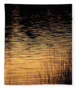 Reflection On A Sunset Fleece Blanket