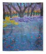 Reflection Pond Japan Fleece Blanket