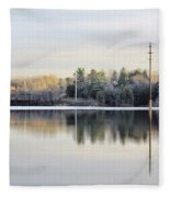 Reflections Across The Water Fleece Blanket