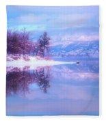 Reflections Along Highway 97 Fleece Blanket