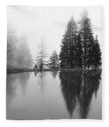 Reflections And Fog Fleece Blanket