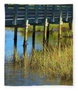 Reflections And Sea Grass Fleece Blanket