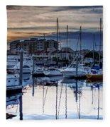 Reflections At Sunset Fleece Blanket