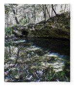 Reflections At The Grotto Fleece Blanket