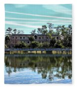 Reflections At The Lake Fleece Blanket