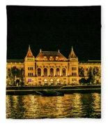 Reflections From Budapest University Fleece Blanket