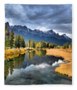 Reflections In Canmore Fleece Blanket