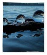 Reflections In Crystal Fleece Blanket