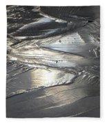 Reflections In Dark Ice 3 Fleece Blanket