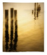 Reflections In Gold Fleece Blanket