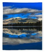 Reflections In Lac Beauvert Fleece Blanket