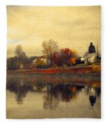 Reflections In Nakusp Fleece Blanket