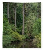 Reflections In Silver Falls State Park Fleece Blanket