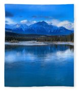 Reflections In The Athabasca Fleece Blanket