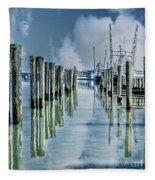 Reflections In The Marina Fleece Blanket