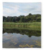 Reflections In The Marsh Fleece Blanket