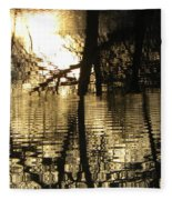 Reflections In The Pond Fleece Blanket