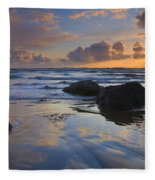 Reflections In The Sand Fleece Blanket