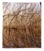 Reflections In The Swamp Fleece Blanket
