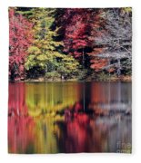 Reflections Of A Bare Grey Tree Fleece Blanket