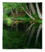Reflections Of A Forest Fleece Blanket