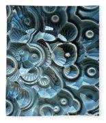 Reflections Of A Fractal Fossil Fleece Blanket