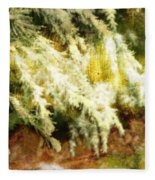Reflections Of A Snow Fleece Blanket