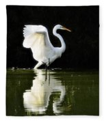 Reflections Of An Angel  Fleece Blanket