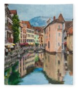 Reflections Of Annecy Fleece Blanket