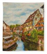 Reflections Of Colmar Fleece Blanket