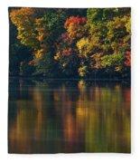 Reflections Of Colors Fleece Blanket