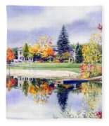 Reflections Of Home Fleece Blanket