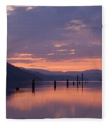 Reflections Of Pink Fleece Blanket