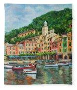 Reflections Of Portofino Fleece Blanket